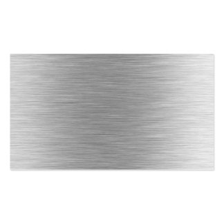 Brushed Aluminum Stainless Steel Textured (faux) Business Cards