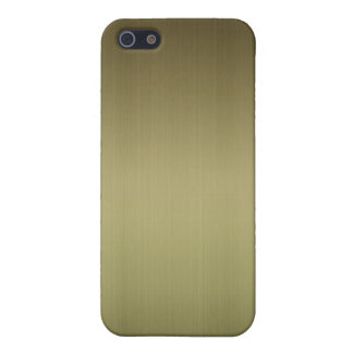 Brushed Brass iPhone 5/5S Cover