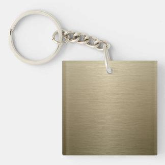 Brushed Bronze Keychain