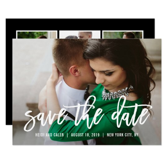 Brushed Charm EDITABLE COLOR Save The Date Card