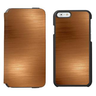 Brushed Copper Look Incipio Watson™ iPhone 6 Wallet Case