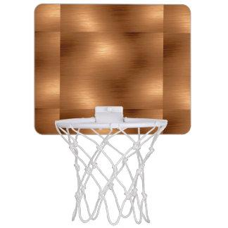 Brushed Copper Look Mini Basketball Hoop