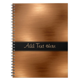 Brushed Copper Look Personalized Notebook