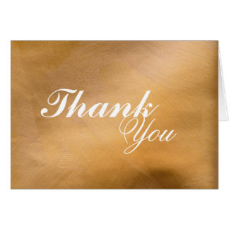 Brushed Copper Thank You Card
