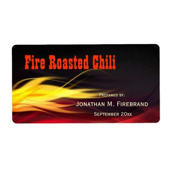Brushed Flames Chili or Shop Label