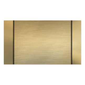 Brushed Gold Business Cards