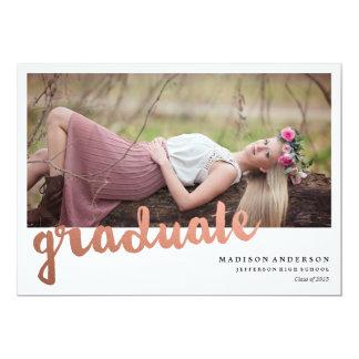 Brushed in Rose Gold | Graduation Invitation