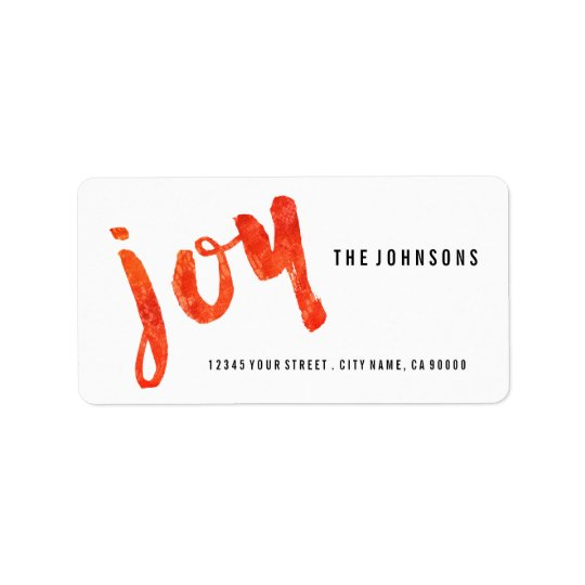 Brushed Joy Casual Christmas Address Labels