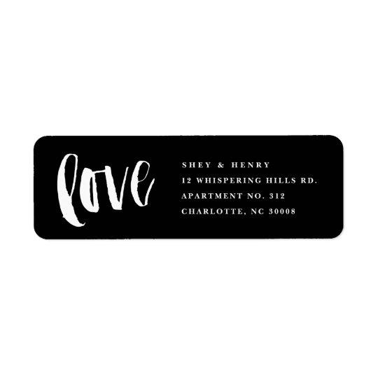 Brushed love return address label