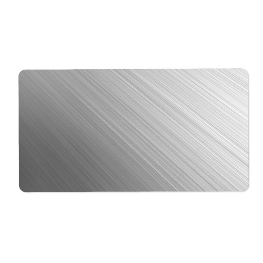 Brushed Metal Avery Label