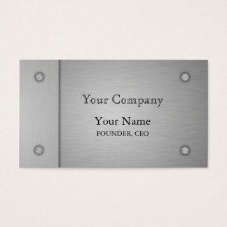 Brushed Metal Business Card