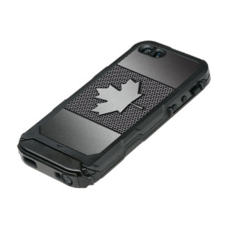 Brushed Metal Canadian Flag Incipio ATLAS ID™ iPhone 5 Case