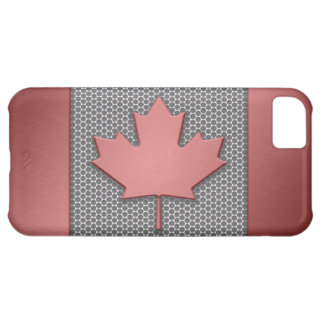 Brushed Metal Canadian Flag iPhone 5C Cover