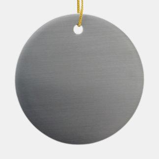 Brushed Metal Ceramic Ornament