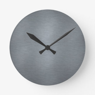 Brushed Metal Clock