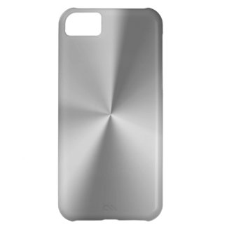 Brushed metal cover for iPhone 5C