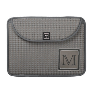 Brushed Metal Grille Look with Monogram Sleeve For MacBooks
