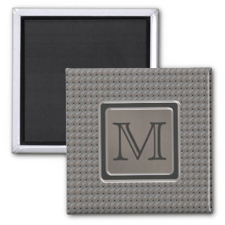 Brushed Metal Grille Look with Monogram Square Magnet