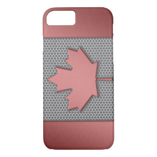 Brushed Metal Look Canadian Flag iPhone 8/7 Case