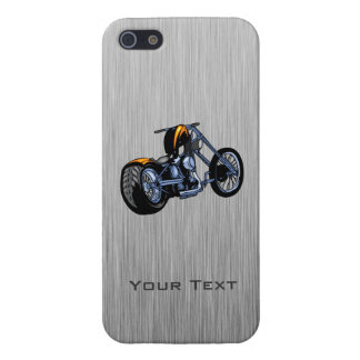 Brushed Metal-look Chopper Cover For iPhone 5