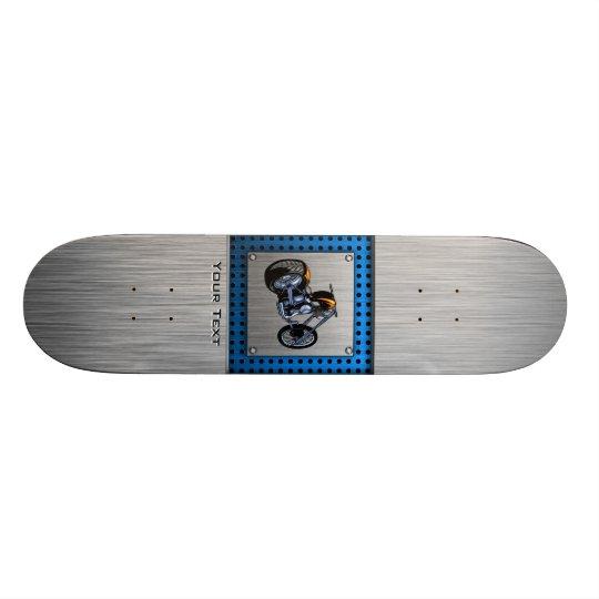 Brushed Metal-look Chopper Skate Deck