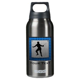 Brushed metal look Fencing Silhouette Insulated Water Bottle