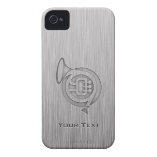 Brushed metal-look French Horn iPhone 4 Case-Mate Cases