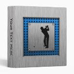 Brushed metal look Golf Vinyl Binders