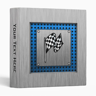 Brushed metal look Racing Flag Vinyl Binder