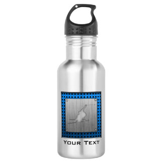 Brushed Metal-look Snow Skiing 532 Ml Water Bottle
