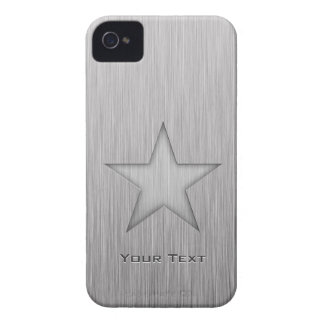 Brushed Metal-look Star iPhone 4 Case-Mate Cases