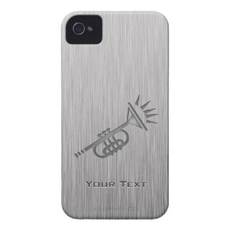 Brushed metal-look Trumpet iPhone 4 Cover