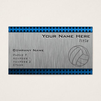 Brushed Metal-look Volleyball Business Card