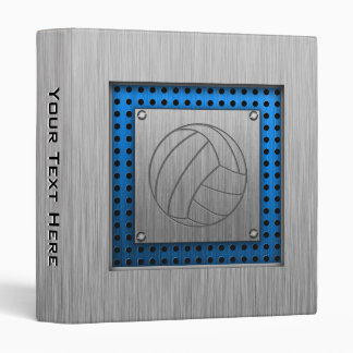 Brushed Metal-look Volleyball Vinyl Binder