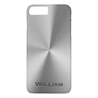 Brushed metal personalized name iPhone 8 plus/7 plus case