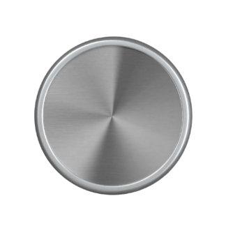 Brushed metal speaker