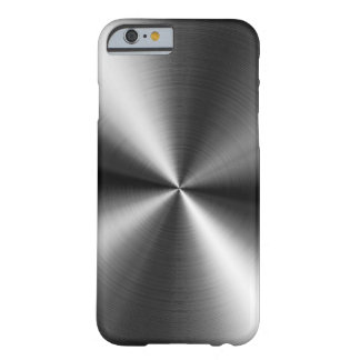 Brushed Metal Swirls Barely There iPhone 6 Case