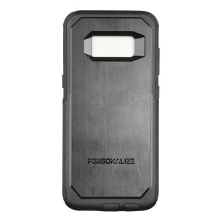 Brushed Metal Texture OtterBox Commuter Samsung Galaxy S8 Case