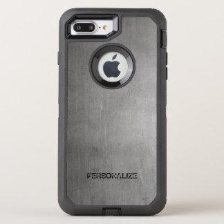 Brushed Metal Texture OtterBox Defender iPhone 8 Plus/7 Plus Case