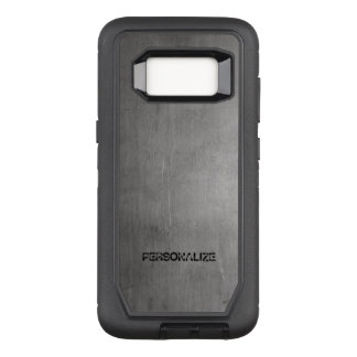 Brushed Metal Texture OtterBox Defender Samsung Galaxy S8 Case