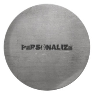 Brushed Metal Texture Plate