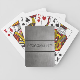 Brushed Metal Texture Poker Deck