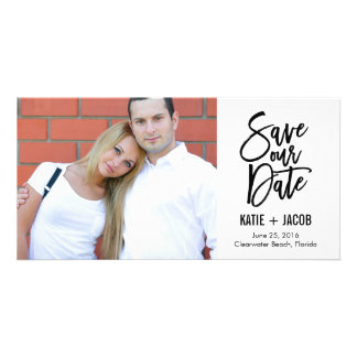 BRUSHED Modern Save The Date Photo Cards