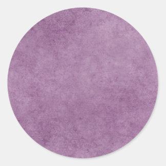 Brushed Purple BAckground Round Sticker
