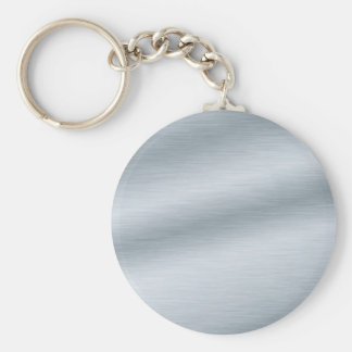 Brushed Silver Look Background Keychain