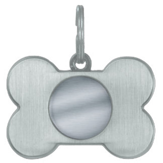 Brushed Silver Look Background Pet Tags