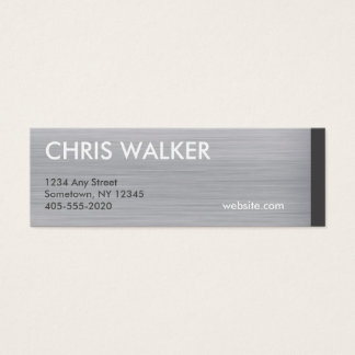 Brushed silver titanium metal texture mini cards