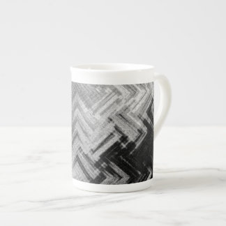 Brushed Steel Bone China Mug by Artist C.L. Brown