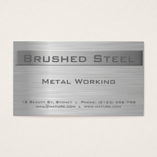 Brushed Steel Business card