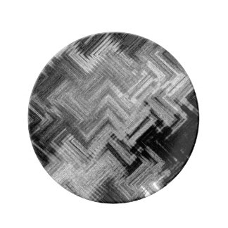 Brushed Steel Decorative Porcelain Plate